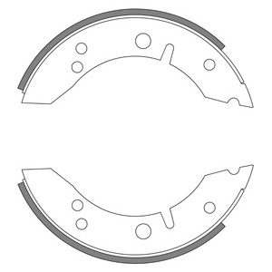MG Midget Early Model, Rear Brake Shoe Set - GBS819AF